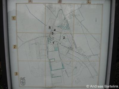 Rossum, plattegrond van het dorp anno 1983