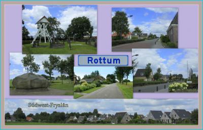 Rottum, collage van dorpsgezichten (© Jan Dijkstra, Houten)