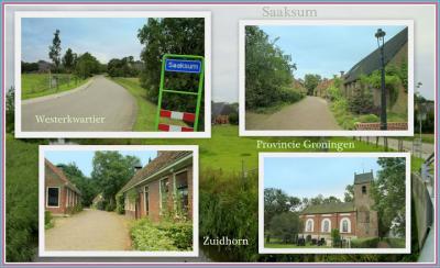 Saaksum, collage van dorpsgezichten (© Jan Dijkstra, Houten)