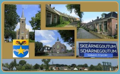 Scharnegoutum is een dorp in de provincie Fryslân, gemeente Súdwest-Fryslân. T/m 2010 gemeente Wymbritseradiel. (© Jan Dijkstra, Houten)