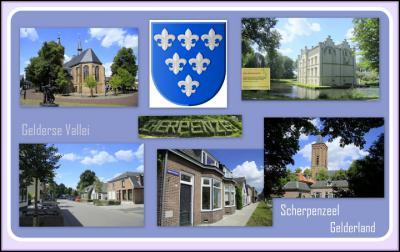 Scherpenzeel, collage van dorpsgezichten (© Jan Dijkstra, Houten)