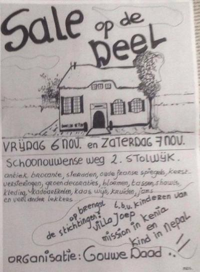 Stichting Gouwe Daad organiseert in de oneven jaren in een weekend begin november de 'Sale op de Deel' in de buurtschap Schoonouwen, met betaalbare cadeaus voor de naderende feestdagen. Met de opbrengst steunt Gouwe Daad met name hulp aan kinderen.