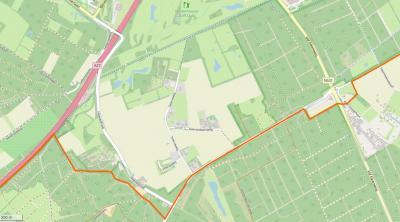 Buurtschap Seters is een oude landbouwenclave omringd door Boswachterij Dorst in het W, Z en O en de Oosterhoutse Golf Club in het N. De oranje lijn is de grens tussen het stadsgebied van Oosterhout in het N en het dorpsgebied van Dorst in het Z.