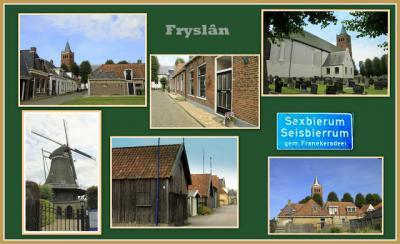 Sexbierum, collage van dorpsgezichten (© Jan Dijkstra, Houten)