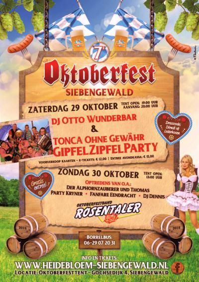 Ja, ze sporten en feesten wat af in Siebengewald... In een weekend eind oktober is er ook nog het Oktoberfest.