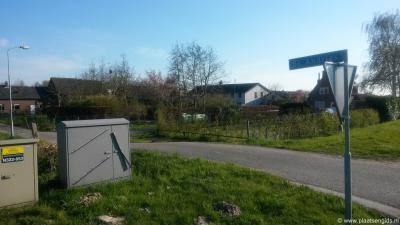 Sint Andries, buurtschapsgezicht. Dit betreft het deel op de locatie van het oude, geheel verdwenen fort.