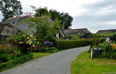 Mooi setje monumentale boerderijen in Sint Jansklooster, aan het Beulakerpad, bij Bezoekerscentrum De Wieden.