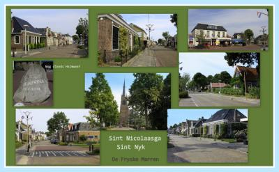 Sint Nicolaasga, collage van dorpsgezichten (© Jan Dijkstra, Houten)