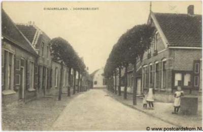 Sirjansland dorpsgezicht ca. 1900