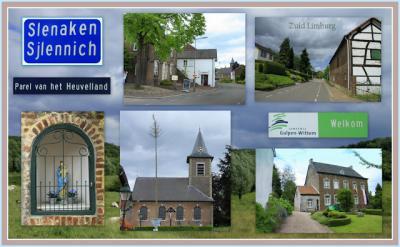 Slenaken, collage van dorpsgezichten (© Jan Dijkstra, Houten)