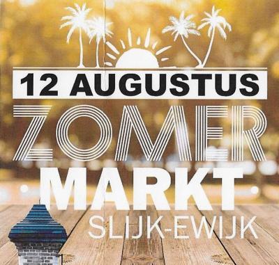 Een van de jaarlijkse evenementen in Slijk-Ewijk is de Zomermarkt in augustus, met meer dan 80 kramen. Voor een schappelijke prijs kun je er ook zelf een kraam of grondplaats huren.
