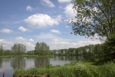 Het natuurgedeelte van natuur- en recreatiegebied Slingeland, ook bekend als de Slingelandse Plassen, valt onder het dorpsgebied van Giessenburg. Het recreatiegedeelte valt voornamelijk onder Goudriaan, waar wij het gebied hebben beschreven.