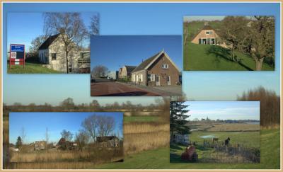 Sluis (buurtschap van Ameide), collage van buurtschapsgezichten (© Jan Dijkstra, Houten)