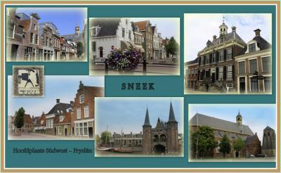 Sneek, collage van stadsgezichten (© Jan Dijkstra, Houten)