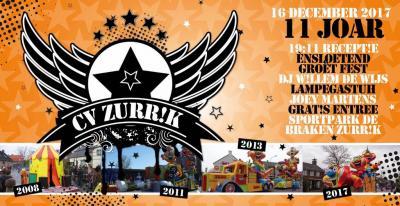Soerendonk heet in het Brabants Zurrik. Carnavalsvereniging CV Zurrik - een van de bijna 20 CV's in dit dorp - is hier dan ook naar genoemd. In 2017 hebben ze het 11-jarig bestaan gevierd (in de carnavalswereld rekent men voor jubilea in eenheden van 11).