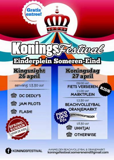 Een feestje bouwen kunnen ze wel in Someren-Eind. Niet alleen met carnaval maar bijv. ook met het Koningsfestival op en rond Koningsdag, met sport, spel en diverse live bands.