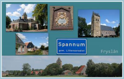Spannum, collage van dorpsgezichten (© Jan Dijkstra, Houten)