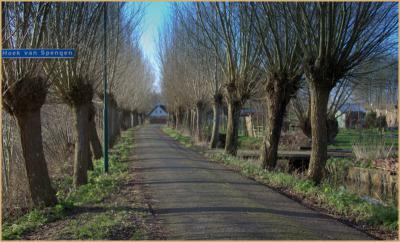 Nóg landelijker dan de 'hoofdweg' van Spengen ligt de Hoek van Spengen, in een doodlopende NW uithoek van de buurtschap, bij het ophaalbruggetje over de Geer. (© Jan Dijkstra, Houten)