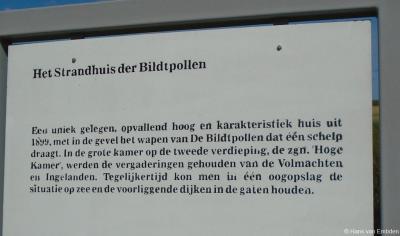 Buurtschap Stad Niks, informatiepaneel bij het Strandhuis der Bildtpollen