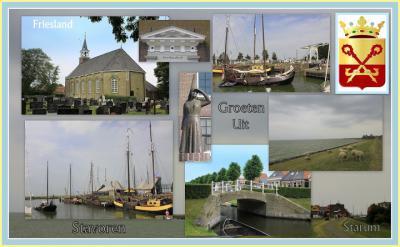 Stavoren, collage van stadsgezichten (© Jan Dijkstra, Houten)