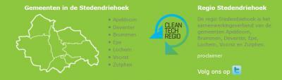Regio Stedendriehoek is een samenwerkingsverband van de gemeenten Apeldoorn, Brummen, Deventer, Epe, Lochem, Voorst, Zutphen, en sinds 1-9-2018 ook Heerde. De regio profileert zich tegenwoordig tevens als Cleantech Regio.