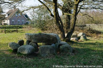Steenbergen, het namaakhunebed bij de Zuursche Duinen
