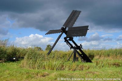 Steenwijkerland, in de Weerribben-Wieden staan ook enkele tjaskers