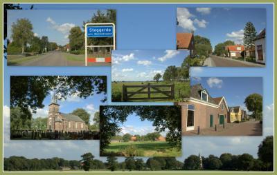 Steggerda, collage van dorpsgezichten (© Jan Dijkstra, Houten)
