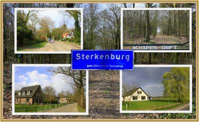 Buurtschap Nieuw Sterkenburg (tot medio 2017 nog Sterkenburg geheten), collage van buurtschapsgezichten (© Jan Dijkstra, Houten)