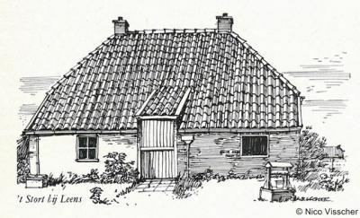 Buurtschap 't Stort, landarbeidershuisje anno 1962.