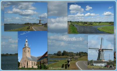 Streefkerk, collage van dorpsgezichten (© Jan Dijkstra, Houten)