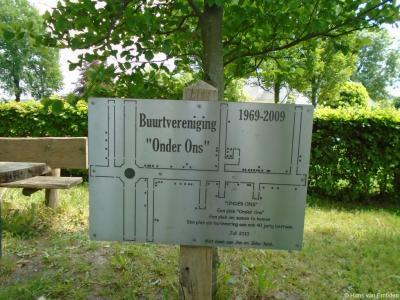 Het perkje in buurtschap Strepen is geleidelijk uitgebreid. Zo is er in 2009 een plattegrond van het werkgebied van Buurtvereniging Onder Ons geplaatst, t.g.v. het 40-jarig bestaan van die vereniging in dat jaar.