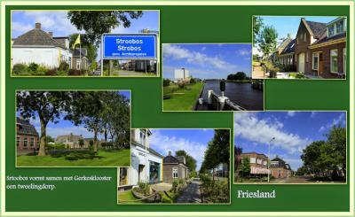 Stroobos, collage van dorpsgezichten (© Jan Dijkstra, Houten)