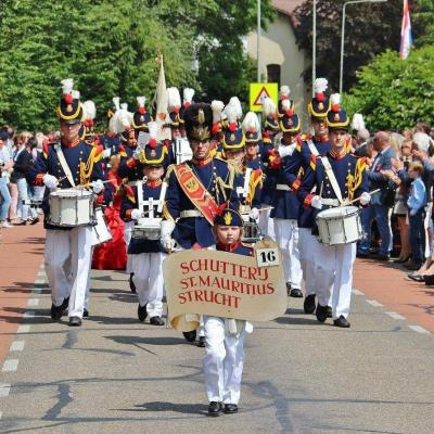 Waar een kleine buurtschap groot in kan zijn; de buurtschap Strucht heeft een eigen schutterij: St. Mauritius, die in 2016 het 246e Bondsschuttersfeest van de R.K. Zuid-Limburgse Schuttersbond heeft georganiseerd. (© www.strucht.nl)