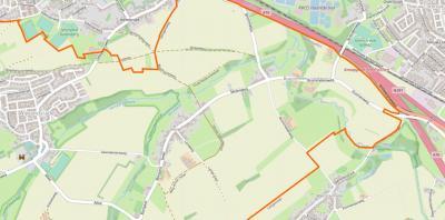 Buurtschap Swier ligt rond de gelijknamige weg en de wegen Bongard, Landweg, Weg achter Swier en Swierderkerkweg, O van Wijnandsrade, ZO van Nuth, Z van de A76 en Hoensbroek, NW van Voerendaal, N van de A79 en NO van Klimmen. (© www.openstreetmap.org)