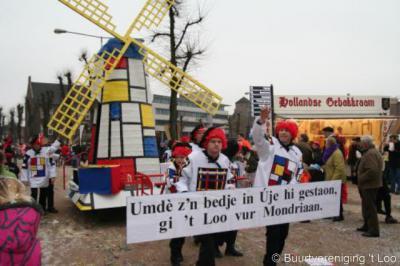 't Loo tijdens de carnavalsoptocht 2007. De beroemde schilder Piet Mondriaan (1872-1944), geboren in Amersfoort, heeft o.a. een jaar (1904) in Uden gewoond.