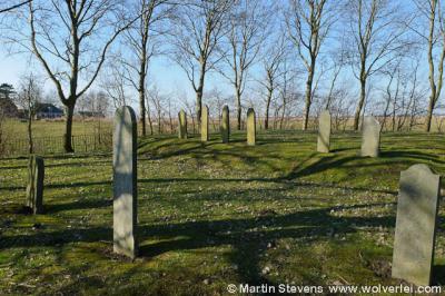 Tacozijl, joodse begraafplaats, met het duidelijk hogere deel