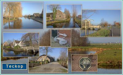 Deze collage geeft je een indruk van het vele moois dat er in buurtschap Teckop te zien is. (© Jan Dijkstra, Houten)