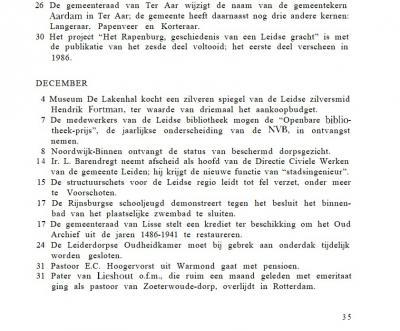 Wellicht vond de gemeente Ter Aar het onhandig dat er in de gemeente geen sprake was van een plaatsnaam/dorpskern Ter Aar. Op 26-11-1992 neemt de gemeenteraad het kloeke besluit om de naam van de hoofdplaats Aardam te veranderen in Ter Aar ...