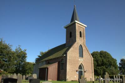 Het kerkje van Ter Idzard, uit het noorden gezien