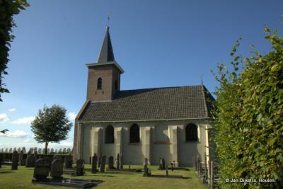 Het kerkje van Ter Idzard, vanuit het zuiden gezien