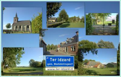 Ter Idzard, collage van dorpsgezichten (© Jan Dijkstra, Houten)