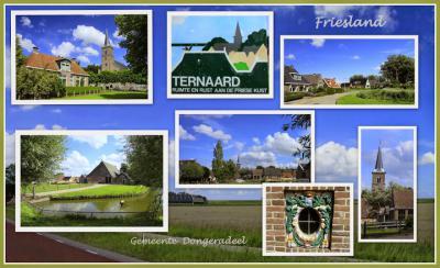 Ternaard, collage van dorpsgezichten (© Jan Dijkstra, Houten)