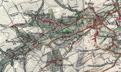 Er is een Buurtvereniging Tervoorst en Bovengehuchten, die de buurtschappen Helle, Hunnecum, Terstraten en Tervoorst omvat. Op deze kaart, uit ca. 1920, is hun ligging in de nabijheid van elkaar goed te zien.