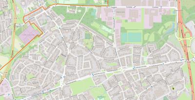 Actuele kaart van Terwinselen, een voormalig dorp thans wijk in de gemeente en van de stad Kerkrade. (© OpenStreetMap/www.openstreetmap.org)