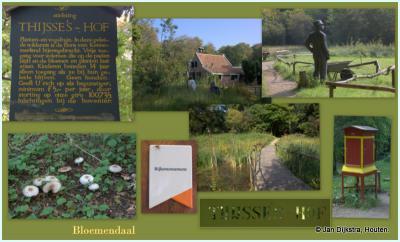Bloemendaal, collage van Thijsse's Hof, in 1925 de eerste heemtuin van ons land, en in 2015 benoemd tot rijksmonument
