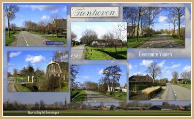 Tienhoven, collage van buurtschapsgezichten (© Jan Dijkstra, Houten)