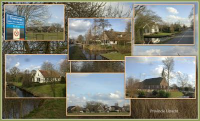 Tienhoven, collage van dorpsgezichten (© Jan Dijkstra, Houten)