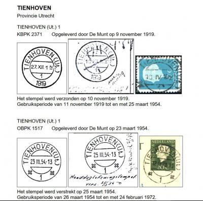 Tienhoven heette in de poststempels vroeger Tienhoven (UT), om het dorp te onderscheiden van het Zuid-Hollandse Tienhoven bij Ameide. Maar dat ligt per 2019 ook in Utrecht. Er is zelfs nog een derde 'Tienhoven (UT)'. Hoe dat zit, kun je lezen onder Naam.