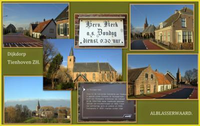 Tienhoven aan de Lek, collage van dorpsgezichten (© Jan Dijkstra, Houten)